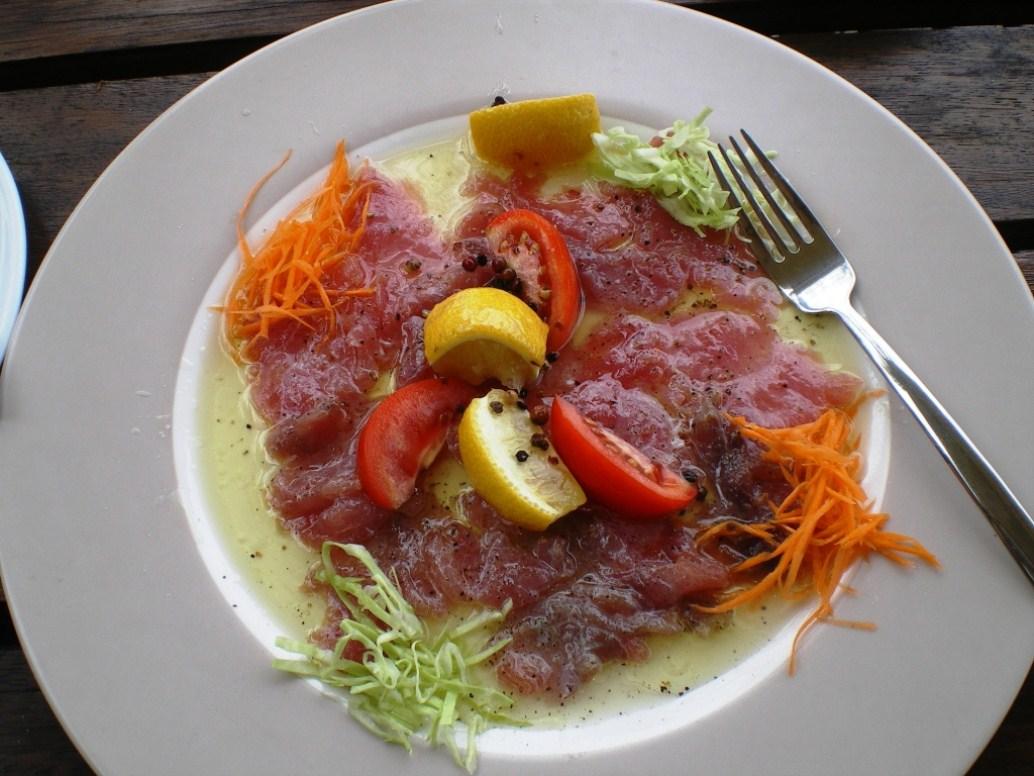 Tuna carpaccia