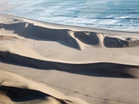 Swakopmund dunes from the sky, Namibia
