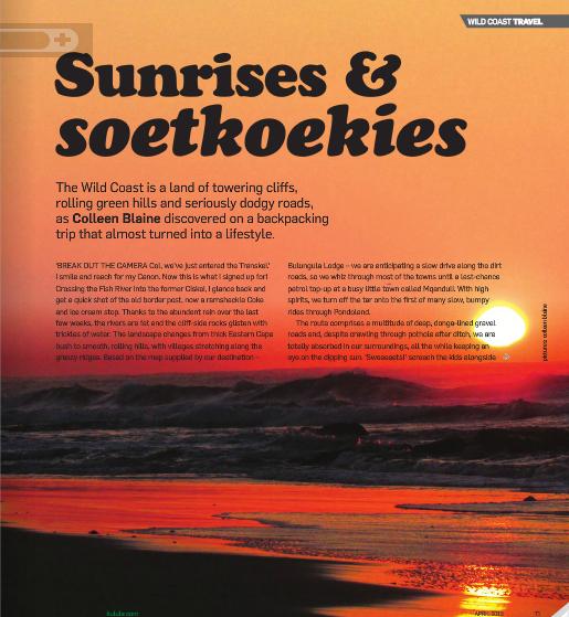 Sunrises and soetkoekies