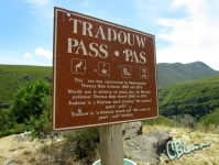 Tradouw Pass sign