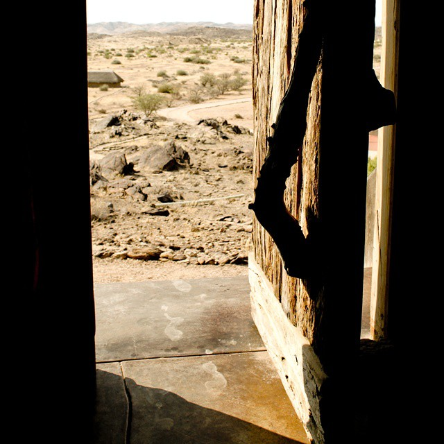 Through the door @WeAreWilderness Doro Nawas lodge. #Namibia #luxurylodges #conservation #latergram #community
