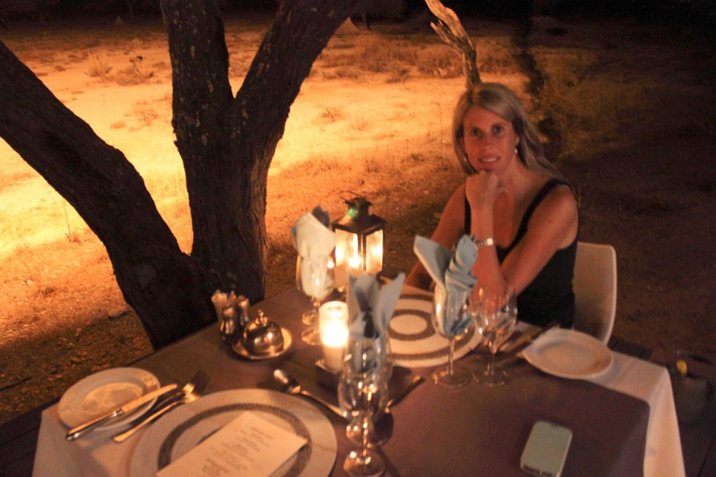 Onguma Reserve dining