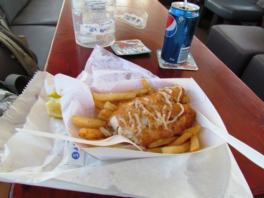 River cruise fish and chips