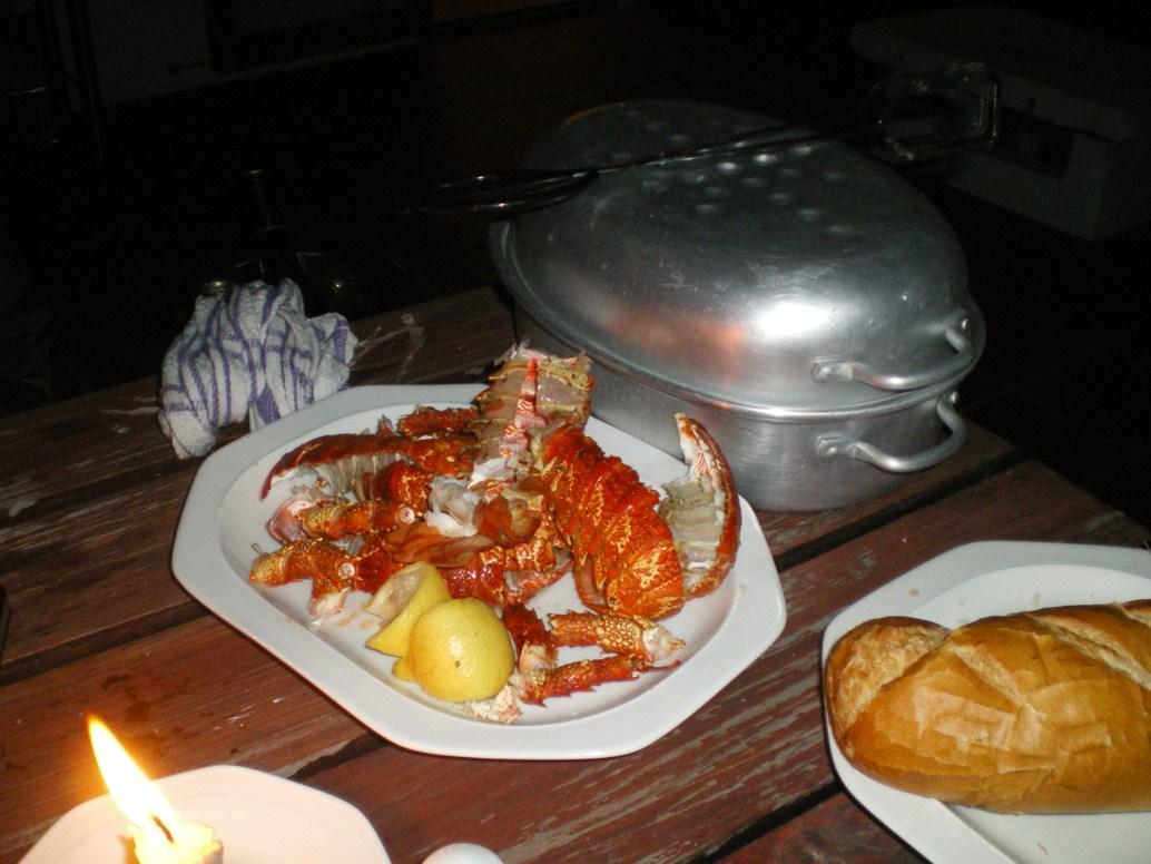 Crayfish in Langebaan