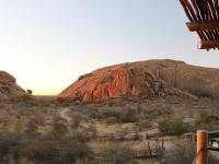 Erongo Mountains sunset Namibia