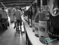 Long row of bottles to taste